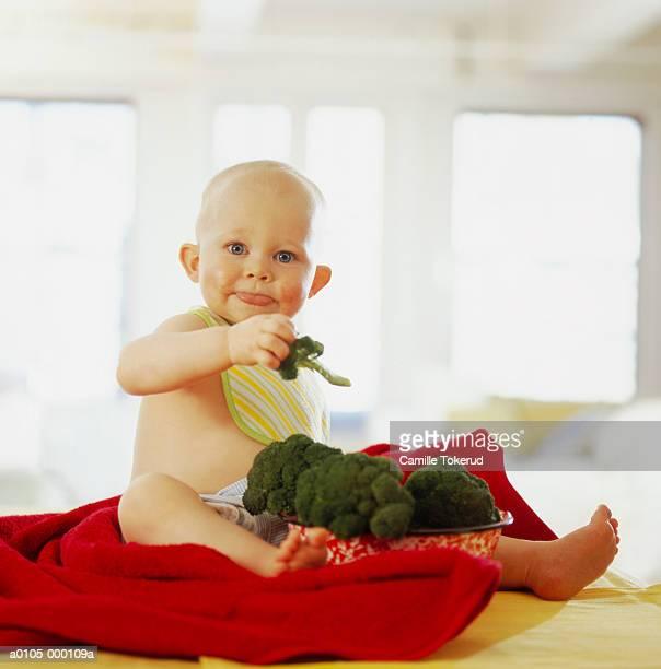 Baby Eating Brocolli