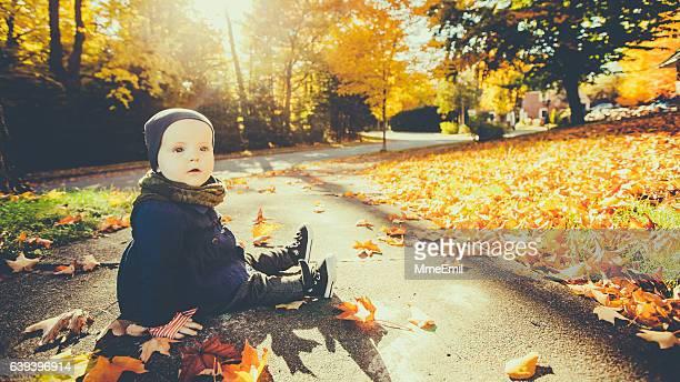 Baby Enjoying Autumn colors