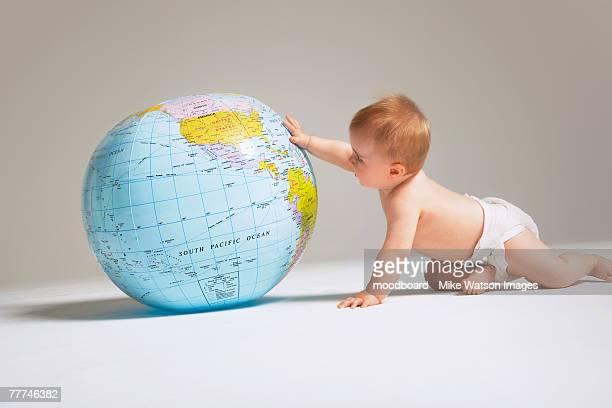 Baby Examining Inflatable Globe