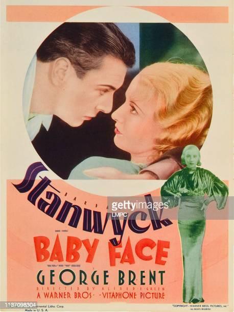 George Brent Barbara Stanwyck bottom right Barbara Staynwyck on midget window card 1933