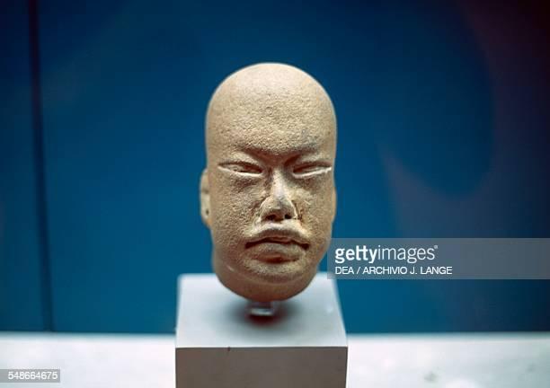 Baby face type terracotta Olmec head found in San Lorenzo Tenochtitlan Veracruz Mexico Olmec civilisation 13th10th century BC Xalapa Museo De...