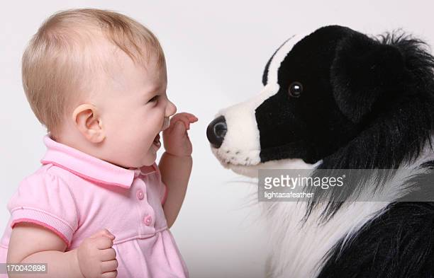 Baby Girl and her Puppy
