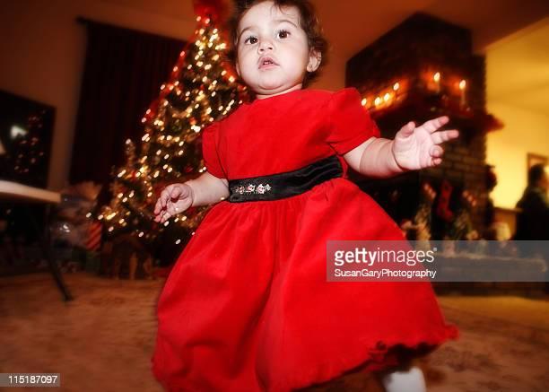 Baby girl at christmas