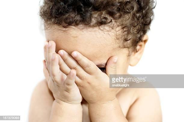 Baby Girl (18 months) Is Having Her Head in Hands