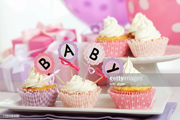baby girl party - baby shower stock photos and pictures