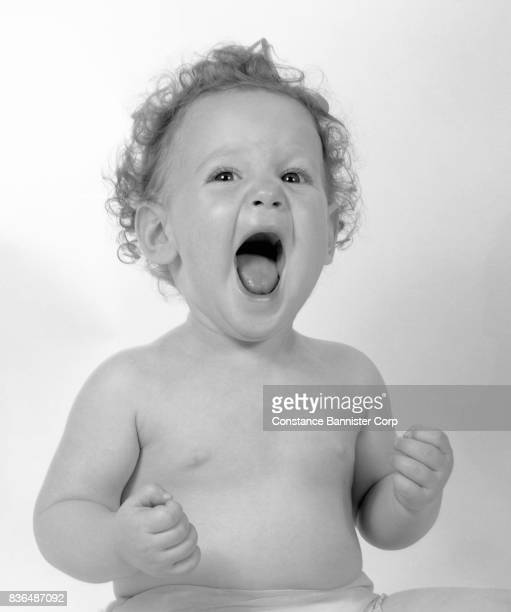 baby girl yelling - constance bannister stock photos and pictures