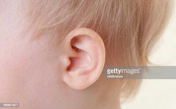 Baby girl's ear