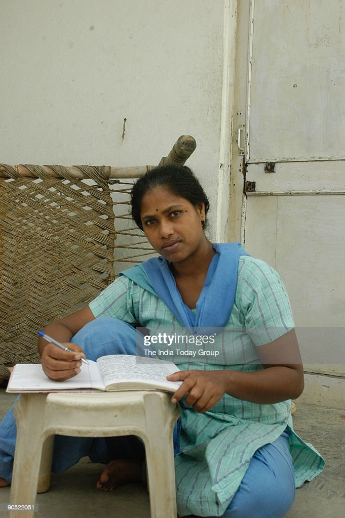 Baby Halder, Writer at her house in New Delhi, India : News Photo