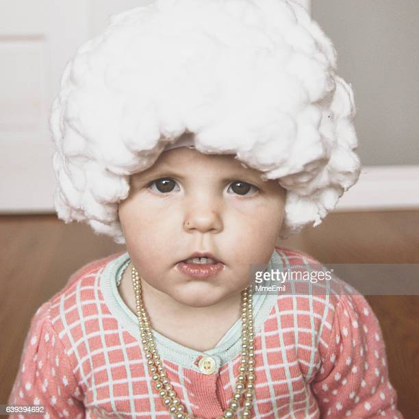 baby halloween costume: old lady - period costume stock pictures, royalty-free photos & images