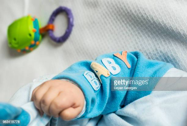 Baby hand adn text baby