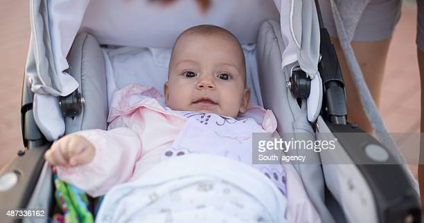 baby in a baby carriage
