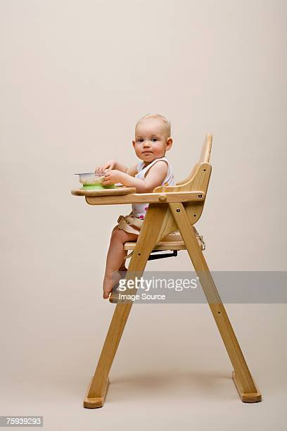 Baby in a high chair