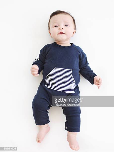 Baby in Blue Onesie