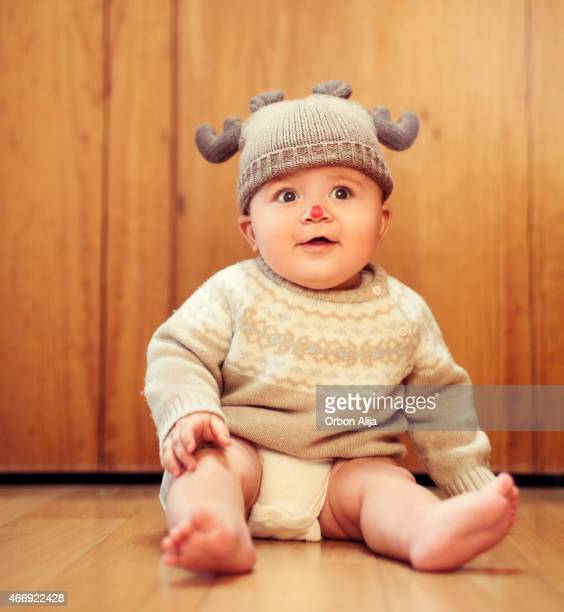 Baby in deer costume