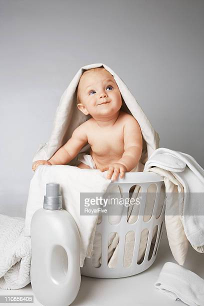 Baby in Laundry