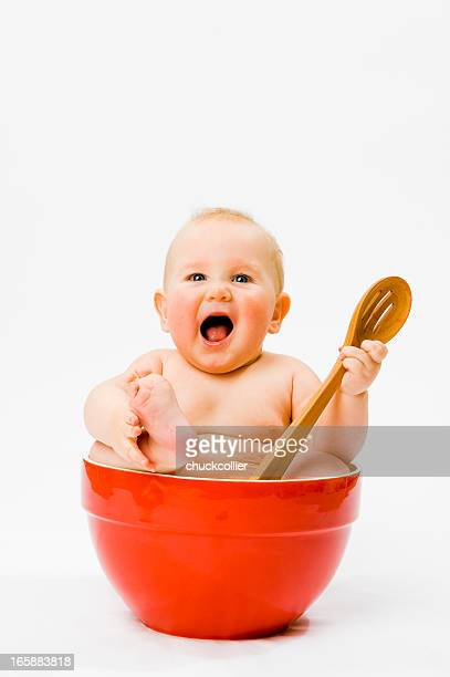 Baby in Mixing Bowl