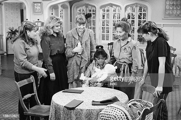 LIFE A Baby in the House Episode 3 Pictured Mindy Cohn as Natalie Green Lisa Whelchel as Blair Warner Heather Kerr as Alison Kim Fields as Dorothy...