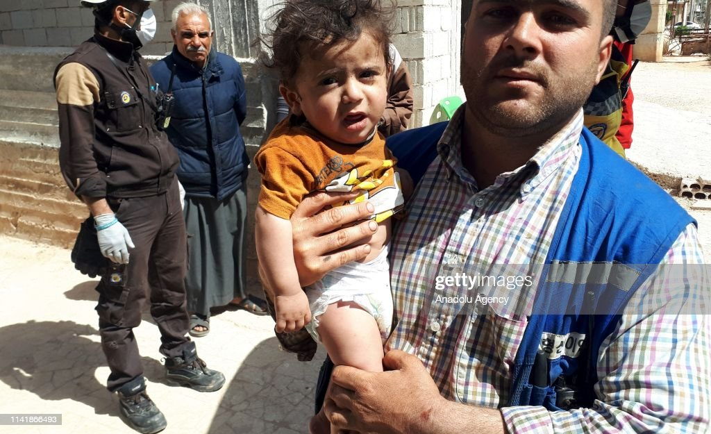 Assad regime hits Syria's Idlib : Nachrichtenfoto