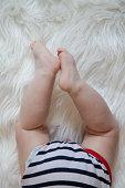 https://www.istockphoto.com/photo/baby-legs-on-white-fur-gm962926534-263006544