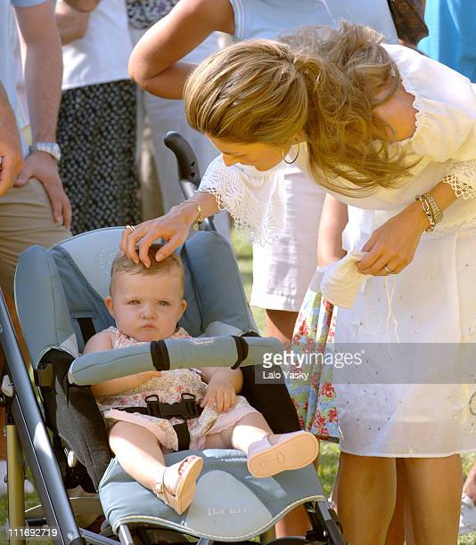 Baby Leonor and Princess Letizia during Royals at the Awards Ceremony for the 2006 Edition of the Breitling Sailing Trophy at Puerto Portals in...