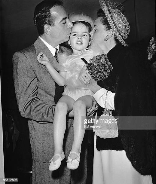 Baby Liza Minnelli with her mother, American actress Judy Garland and father, film director Vincente Minnelli, Hollywood California, April 1947.