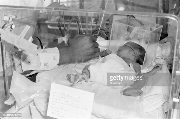 Baby Louise Brown with her father Colin Brown at Cardiff Royal Infirmary Hospital Tuesday 26th September 1978 Louise Ann Karen Brown was born after...