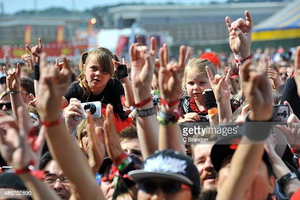 Baby Metal fans at the Main Stage during the 2nd Day of the Reading Festival at Richfield Avenue on August 29 2015 in Reading England