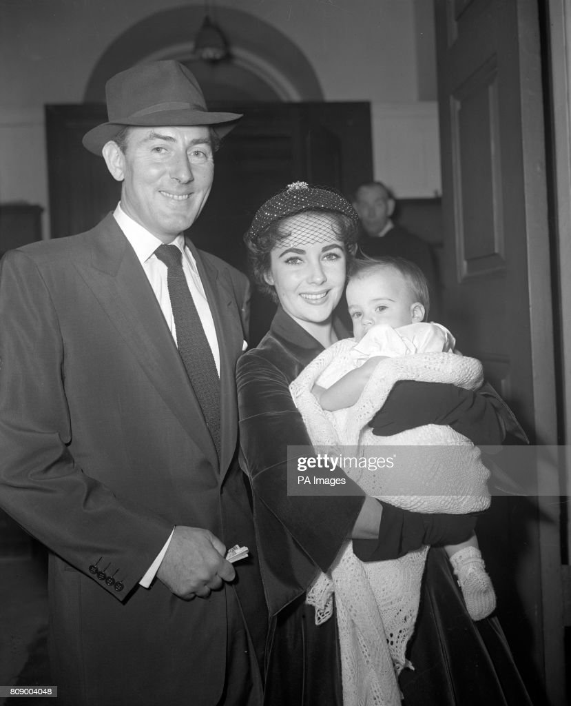 Entertainment - Elizabeth Taylor Baby Christening - Grosvenor Chapel, London : News Photo