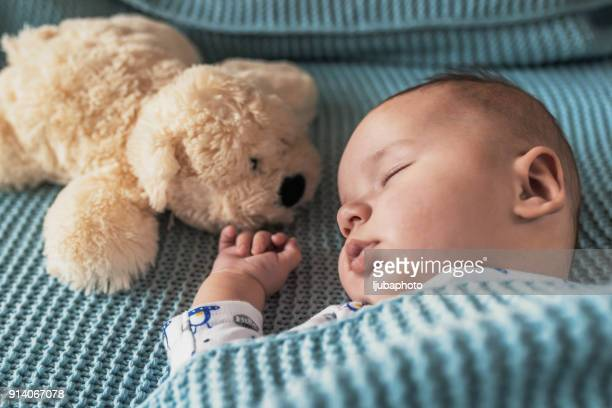 baby needs his sleep! - baby boys stock pictures, royalty-free photos & images