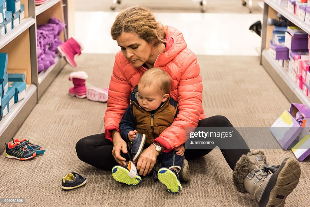 Baby Needs New Shoes : Stock Photo