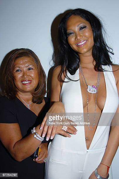 Baby Phat designer Kimora Lee Simmons and her mother Joanne Perkins get together before a showing of Baby Phat's fall 2005 collection at the Ace...