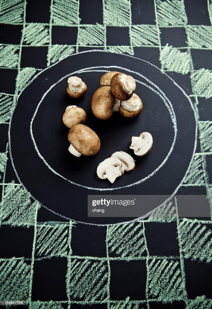 Baby Portabello Mushroom : Bildbanksbilder