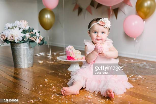 baby portrait, baby first birthday, baby party, baby birthday, kid birthday, 1st birthday, baby cake, cake smash - sugar baby imagens e fotografias de stock