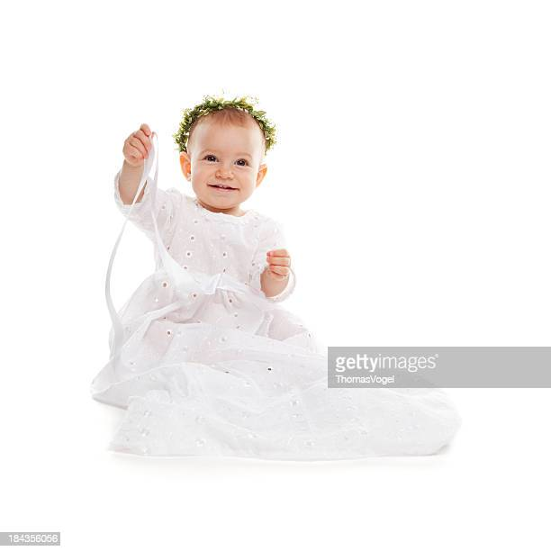 Baby princess. Baptism Girl Dress white Small Celebration Clothing