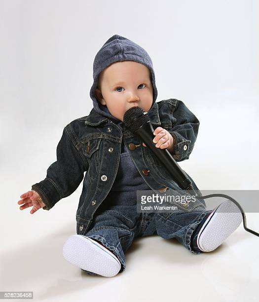 Baby Rapper with Microphone