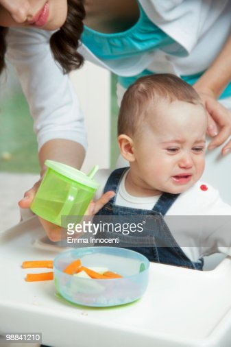 Baby Refusing To Drink Water Stock Photo Getty Images