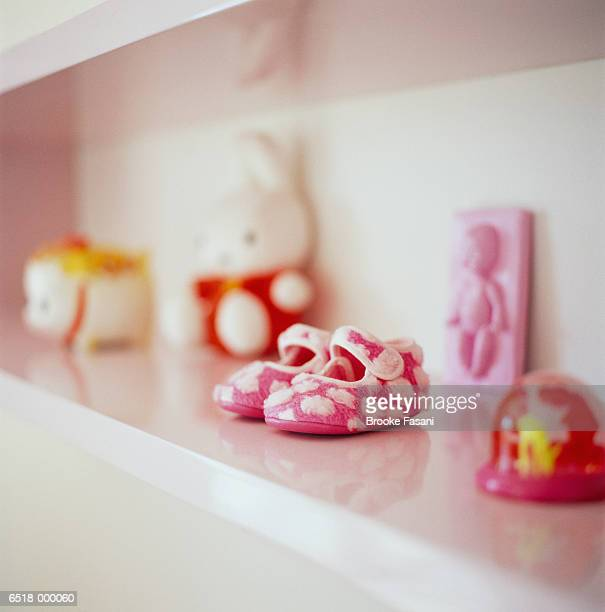 Baby Shoes on Shelf