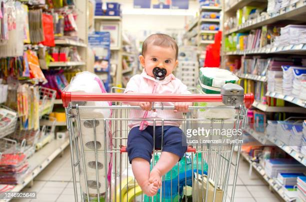 baby shopping cart newborn - seat stock pictures, royalty-free photos & images