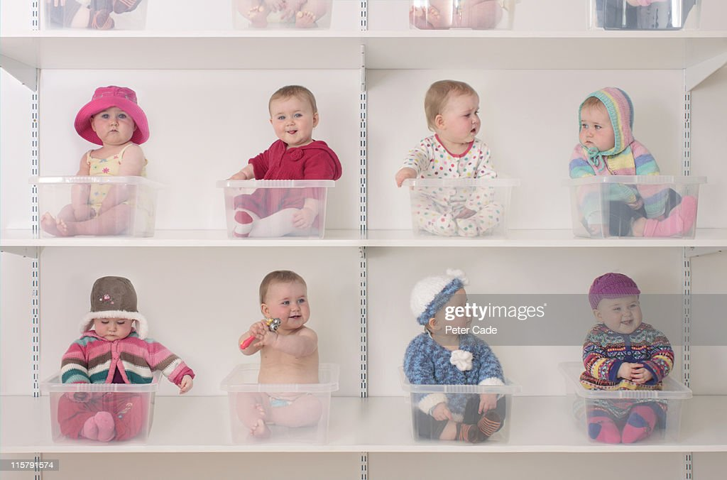 Baby shopping : Stock Photo