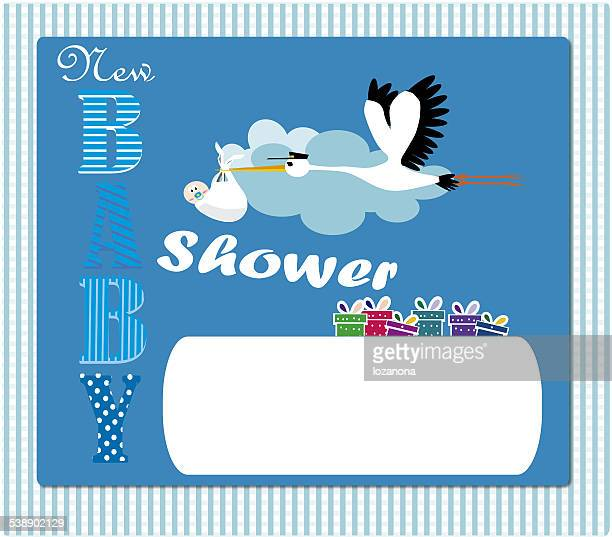 Baby Shower Invitation blue