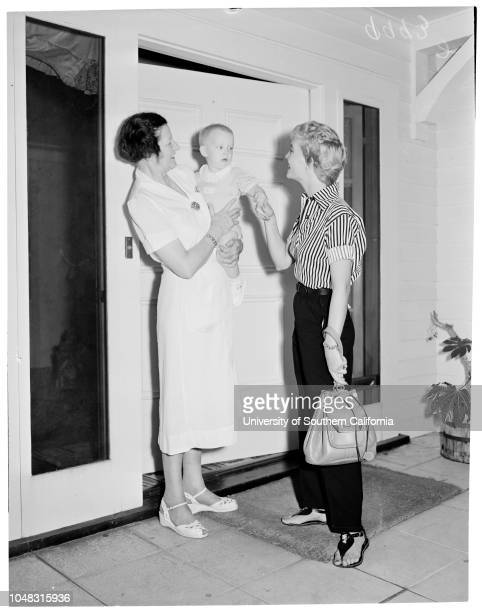 Baby Sitters Guild of Hollywood 27 August 1953 Mrs Ruth CoffmanMelinda Sparks 18 monthsWilliam O Hewlett 73 yearsMrs Esther Hewlett 89 yearsStephen...