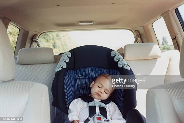 Baby Sleeping in Automobile