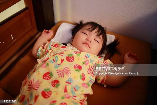 Baby Sleeping on Zabuton