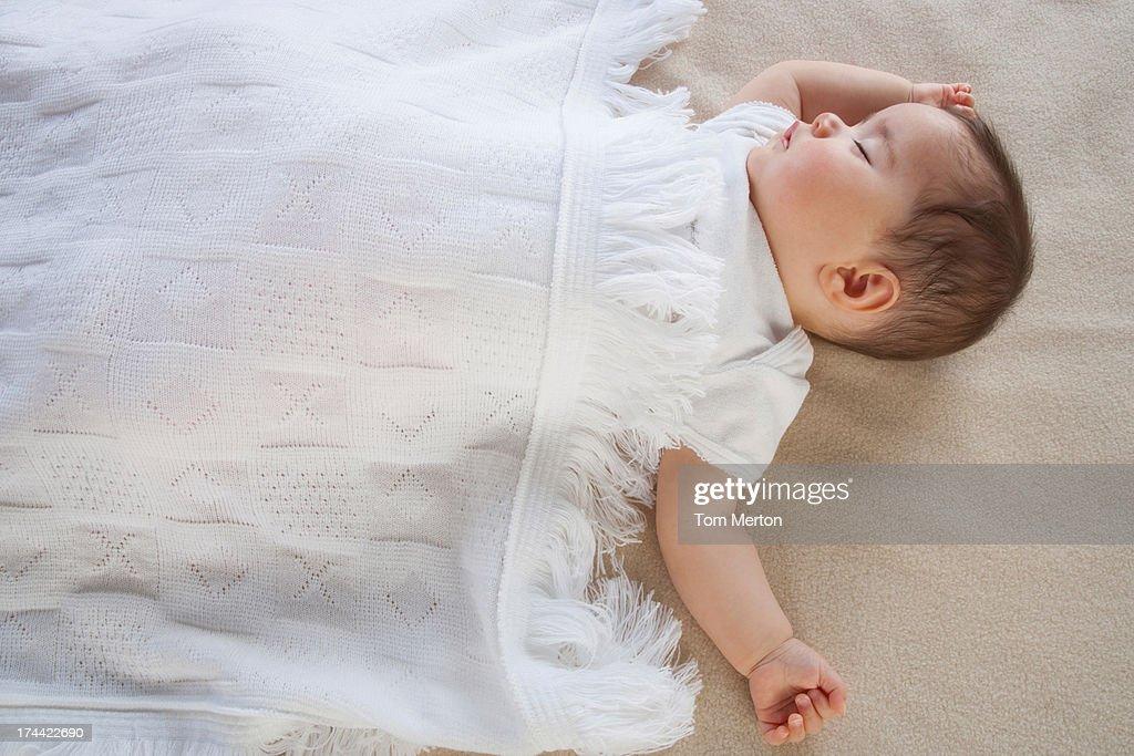 A baby sleeping : Stock Photo