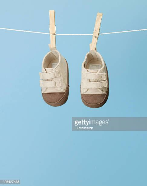 Baby Sneakers on Clothes Line