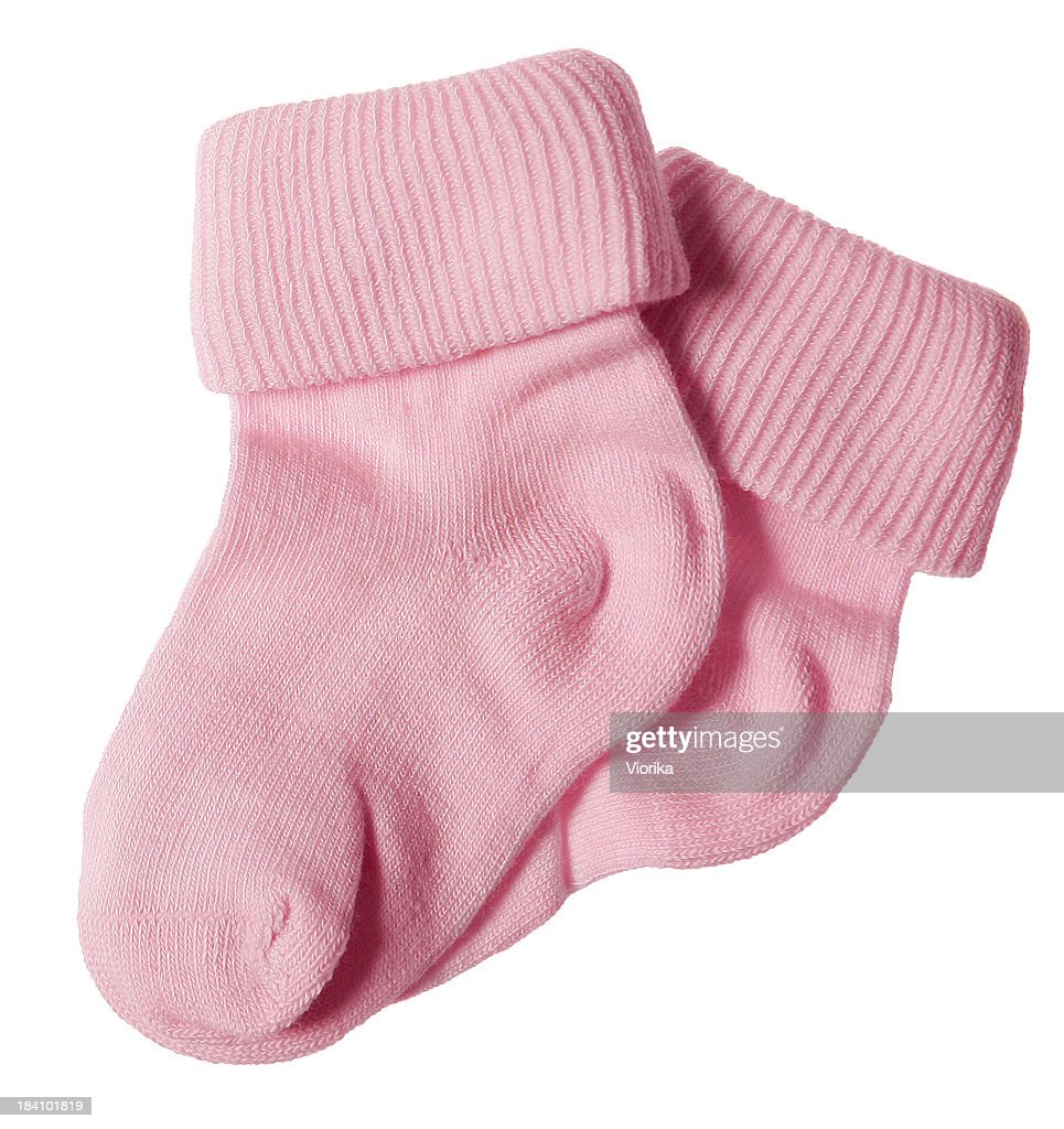 Baby socks on white : Stock Photo
