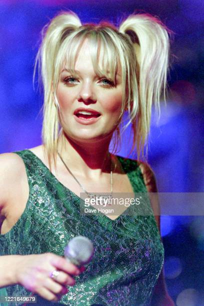 Baby Spice of the Spice Girls performs during the Spice World tour on May 02 1998