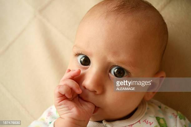 Baby thumb sucking