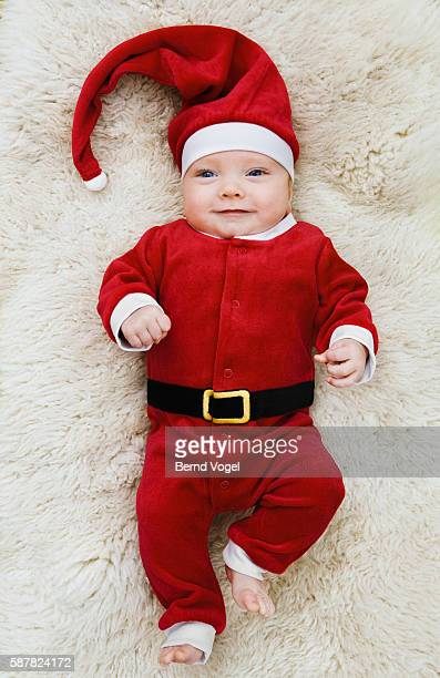 Baby Wearing Santa Claus Costume