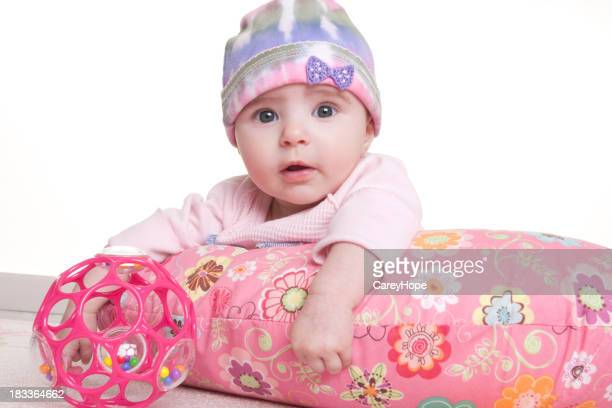 baby with pillow